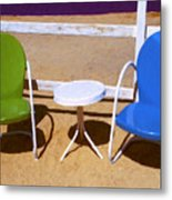 Two Chairs Metal Print