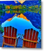 Two Chairs In Paradise Metal Print