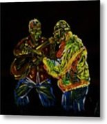 Two Classical Guitar Players  Metal Print
