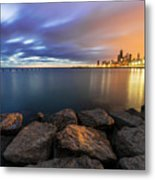 Two-colored Sky During The Sunrise Metal Print
