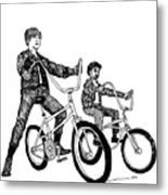Two Cool Riders Metal Print
