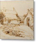 Two Cottages At Saintes Maries De La Mer Metal Print