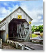 Two Covered Bridges Of St. Martins Metal Print
