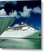 Two Cruise Ships Docked At A Caribbean Metal Print