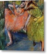 Two Dancers In The Foyer Metal Print