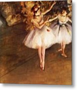 Two Dancers On Stage Metal Print