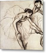 Two Dancers Resting Metal Print by Edgar Degas