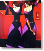 Two Dancers With Candlelight Metal Print