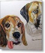 Two Dogs Metal Print