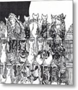 Two Dozen And One Cats Metal Print
