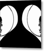 Two Dreamy Eyed Hearts Metal Print