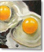 Two Eggs  Metal Print