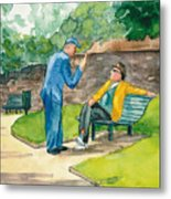 Two Englishmen In Conversation  Metal Print