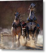 Two Excited Metal Print