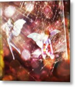 Two Fairies In The Web Metal Print
