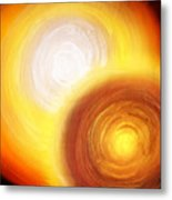 Two Fire-colored Stars Metal Print
