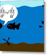 Two Fish Discuss Wave Theory. Metal Print