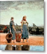 Two Girls On The Beach Metal Print