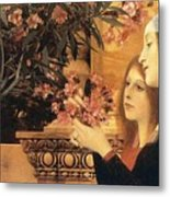 Two Girls With An Oleander Metal Print