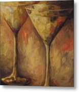 Two Golden Martinis  Metal Print