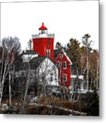 Two Harbors Lighthouse Close-up Metal Print