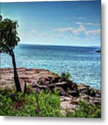 Two Harbors North Pierhead Light Metal Print