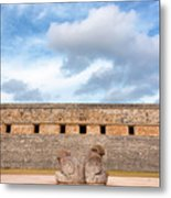 Two Headed Statue And Governors Palace Metal Print