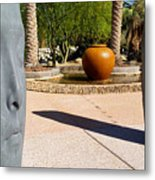 Two Heads Are Better Than One - Palm Desert Sculpture Gardens Metal Print