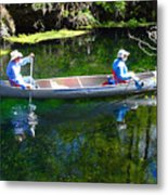 Two In A Canoe Metal Print