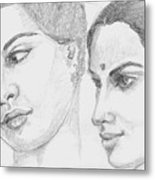 Two Indian Women Metal Print