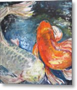 Two Koi Metal Print