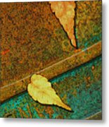Two Leaves Or Not Two Leaves Metal Print
