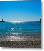 Two Lighthouse And The Wonderful Beach Metal Print