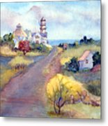 Two Lights In Cape Elizabeth Maine Metal Print