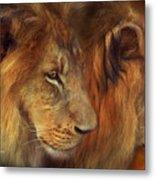 Two Lions Metal Print
