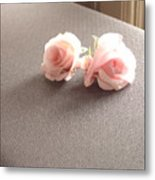 Two Little Pink Roses Metal Print