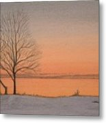 Two Lovers At Sunset Metal Print