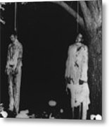 Two Lynched African American Men Metal Print