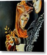 Two Masks In Venice  Metal Print