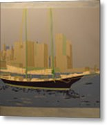 Two masts colored Metal Print