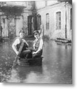 Two Men In A Tub Metal Print by Fpg