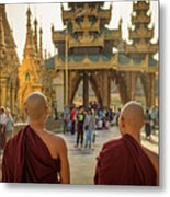 Two Monks Metal Print