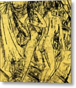 Two Nudes At The Window Metal Print
