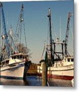 Two Old Shrimpboats Metal Print