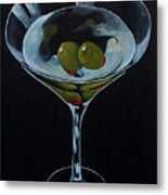 Two Olive Martini Metal Print
