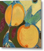 Two Oranges Metal Print by Jennifer Lommers