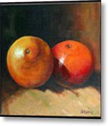 Two Oranges Metal Print by Pepe Romero