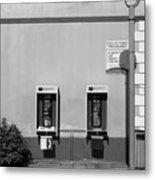 Two Pay Phones Metal Print
