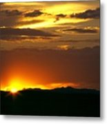 Two Peaks Sunset Metal Print