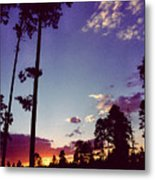 Two Pines Sunset Metal Print